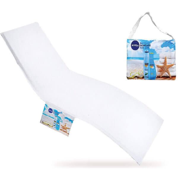 serviette de plage personnalis e et sac pour chaise. Black Bedroom Furniture Sets. Home Design Ideas